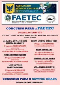 Aprovados FAETEC e Newton Braga - 2017